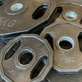 Disco esagonale in ferro rivestito in gomma-8