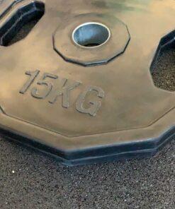 Disco esagonale in ferro rivestito in gomma-1