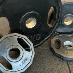 Disco esagonale in ferro rivestito in gomma-5