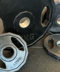 Disco esagonale in ferro rivestito in gomma