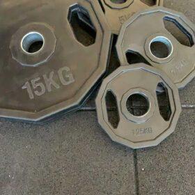 Disco esagonale in ferro rivestito in gomma-11